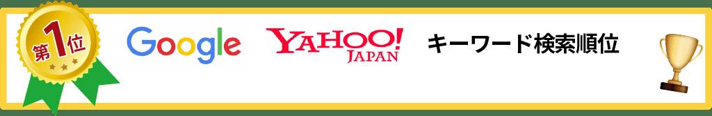 Google YAHOO!JAPAN キーワード順位「大府市 骨盤矯正」「大府市 産後の骨盤矯正」第1位